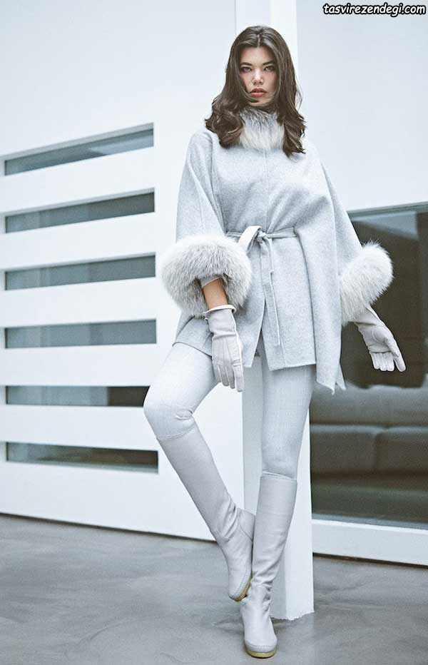 مدل پالتو یقه خزدار دخترانه