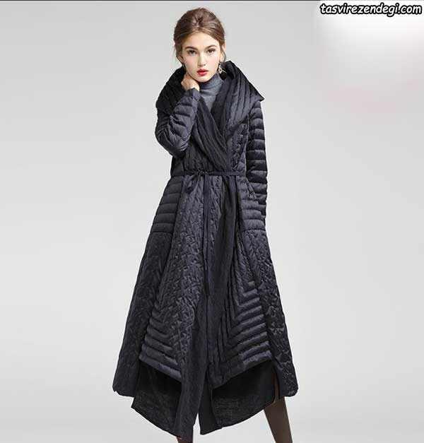 مدل پالتو زنانه و دخترانه مشکی بلند