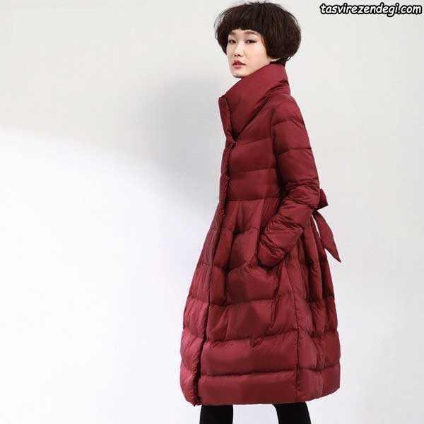 مدل پالتو زنانه و دخترانه قرمز