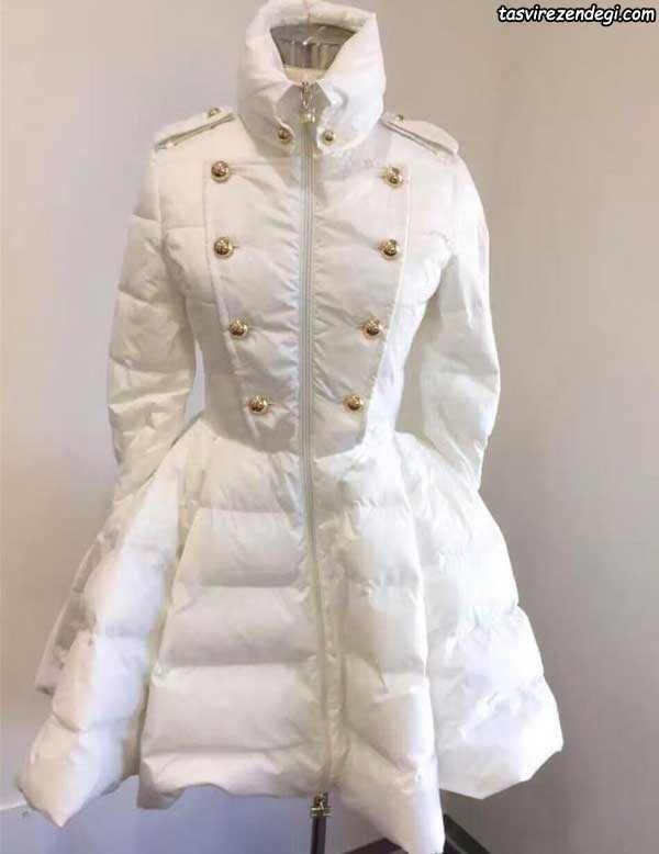 مدل پالتو زنانه و دخترانه سفید