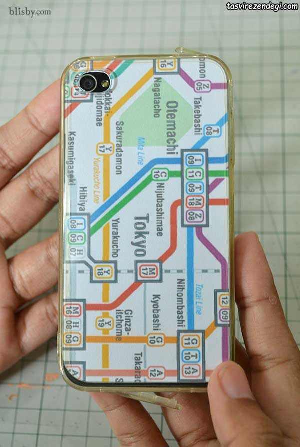 تزیین قاب موبایل با نقشه