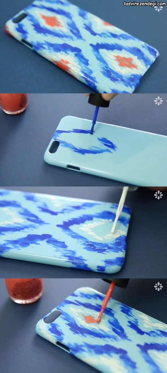 نقاشی روی قاب موبایل