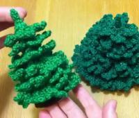 آموزش بافت درخت کریسمس قلاب بافی