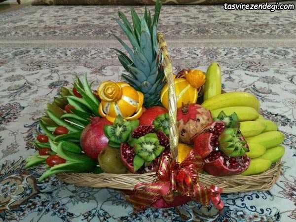 تزیین میوه یلدایی عروس