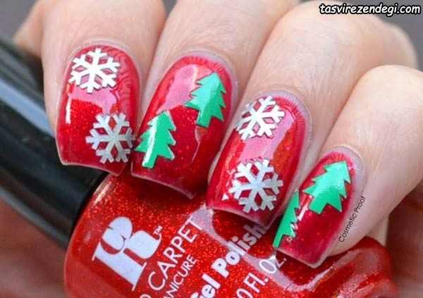 طراحی ناخن کریسمس