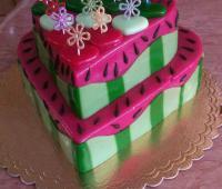 کیک ژله شکل هندوانه برای شب یلدا