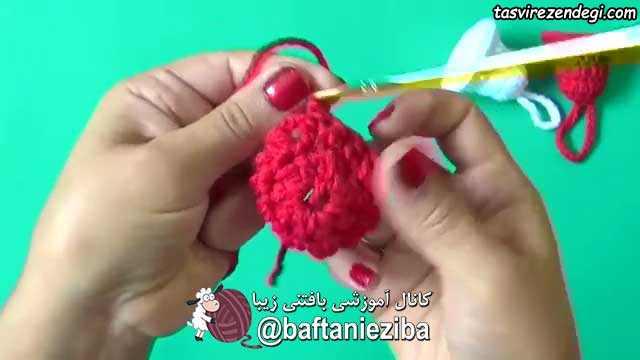 آموزش بافت زنگوله قلاب بافی