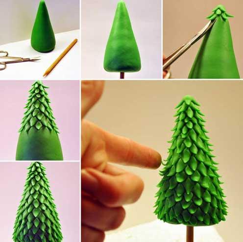 ساخت درخت کریسمس با خمیر