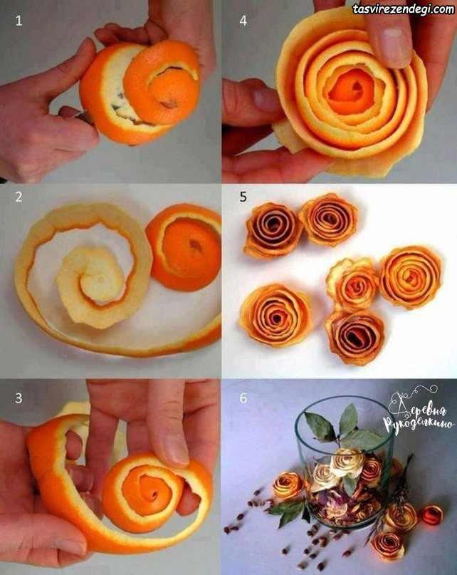 تزیین درخت کریسمس با پوست پرتقال