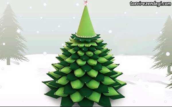 آموزش ساخت درخت کریسمس مقوایی