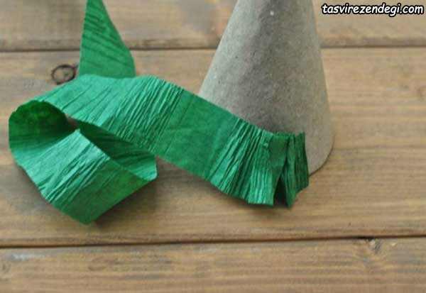آموزش ساخت درخت کریسمس کاغذ کشی