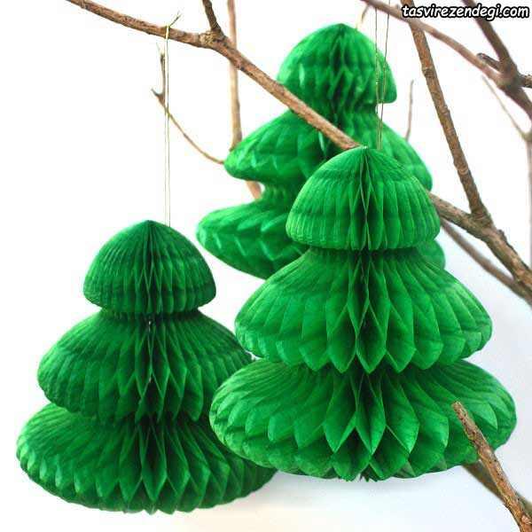 آموزش ساخت درخت کریسمس کاغذی