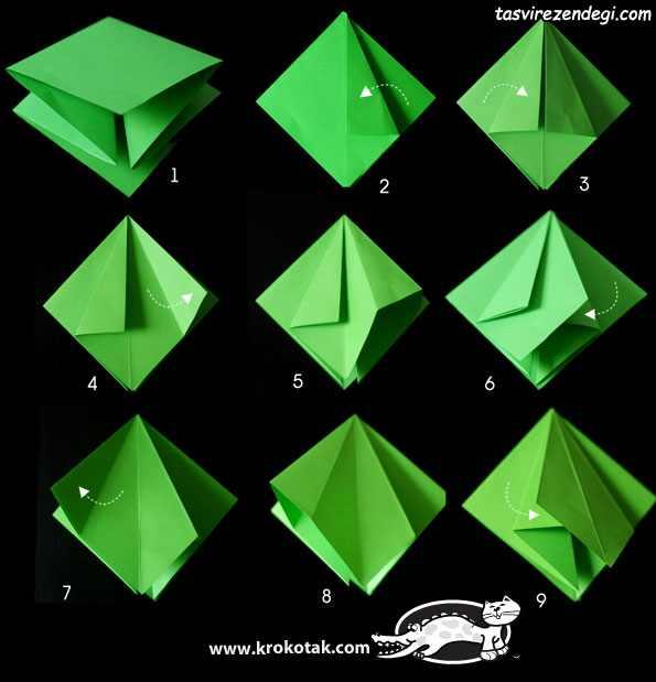 آموزش ساخت درخت کاغذی اوریگامی