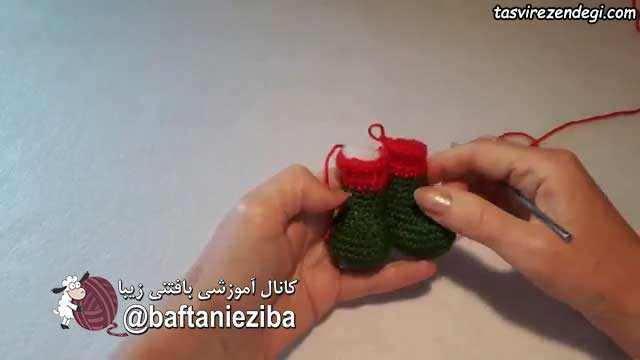 آموزش بافت عروسک بابانوئل