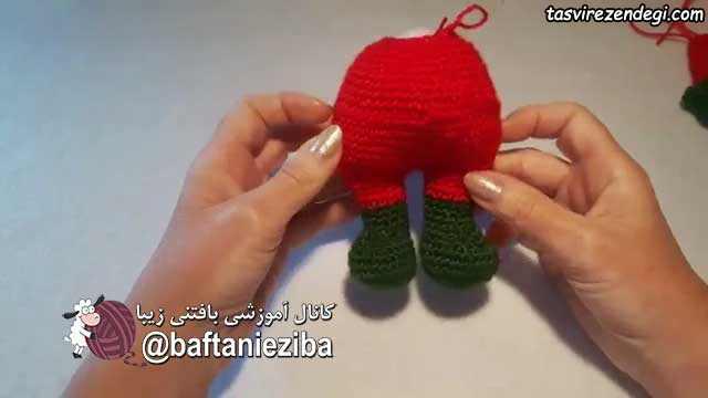 عروسک بابانوئل قلاب بافی