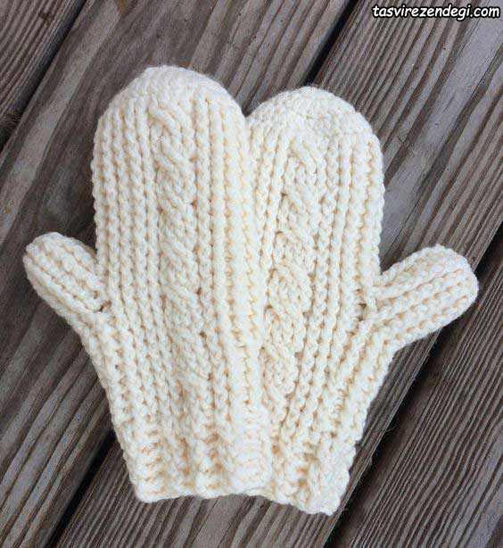 دستکش قلاب بافی یک انگشتی
