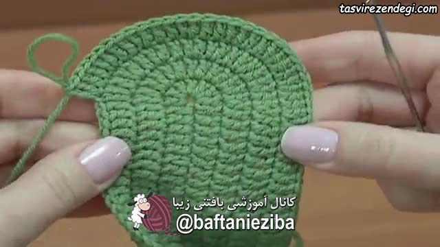 آموزش بافت پاپوش زنانه قلاب بافی
