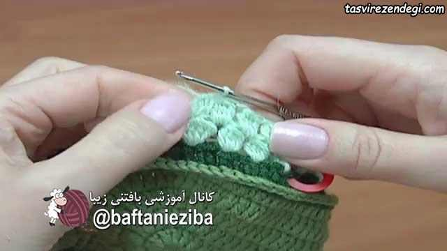 آموزش بافت پاپوش زنانه با قلاب