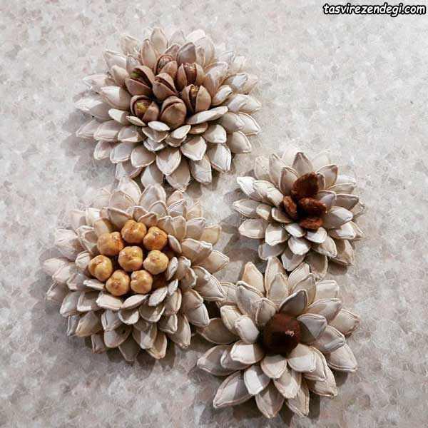 تزئین آجیل به شکل گل