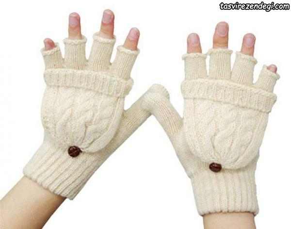 دستکش بافتنی انگشت جدا