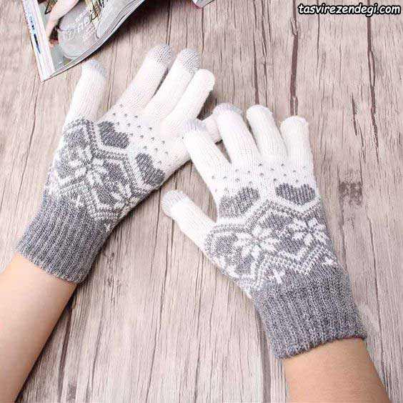 دستکش میل بافی