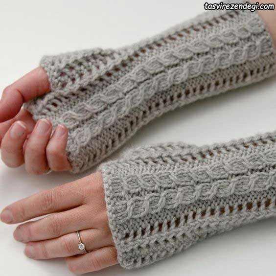 دستکش بدون انگشت دستباف