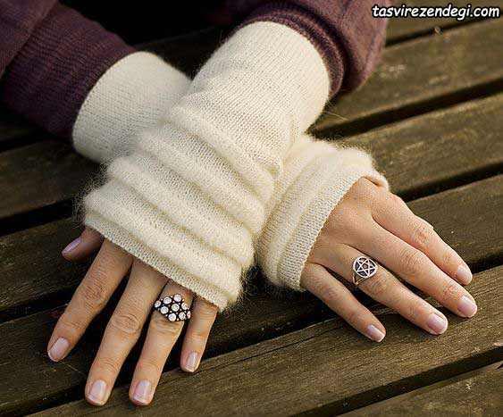 دستکش بافتنی بدون انگشت