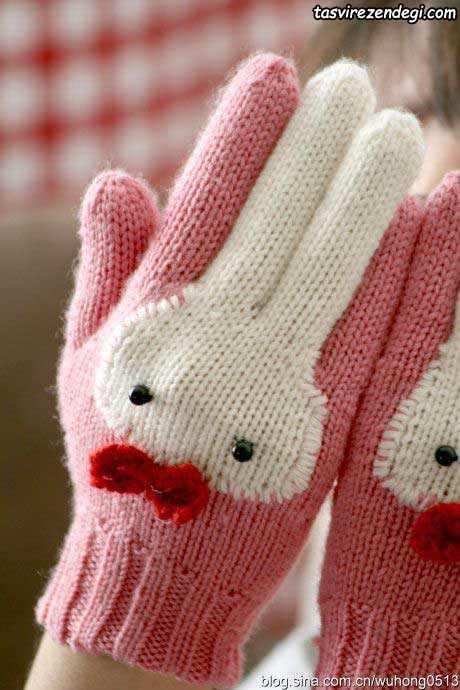 دستکش بافتنی خرگوشی