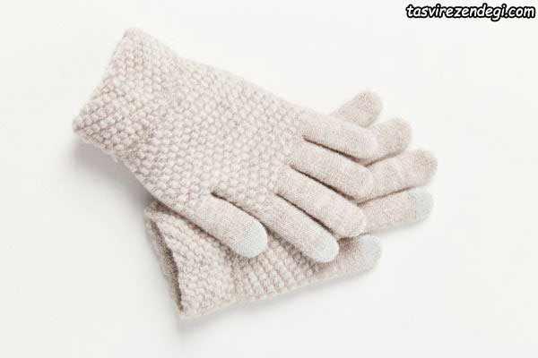 دستکش بافتنی دستباف