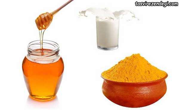 زردچوبه عسل شیر معجون باز کردن رگ قلب