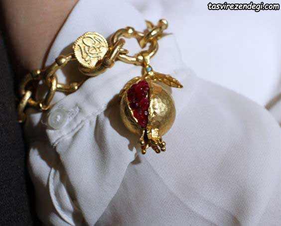 دستبند طرح انار