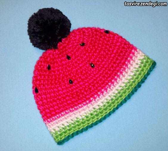 کلاه طرح هندوانه