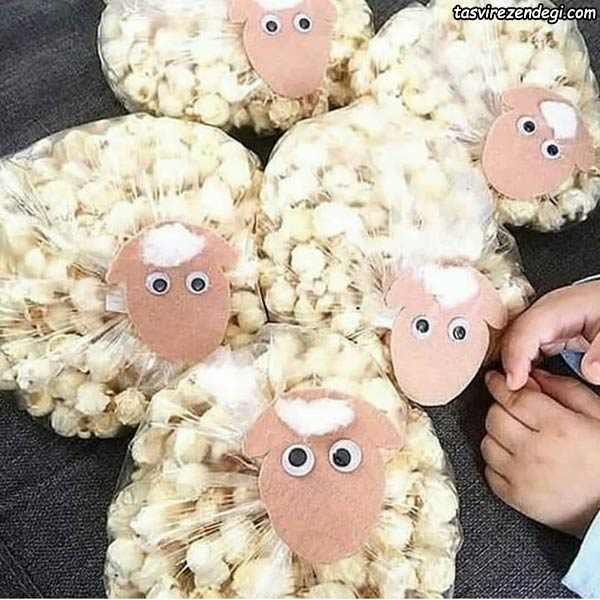 تزیین پفیلا به شکل گوسفند