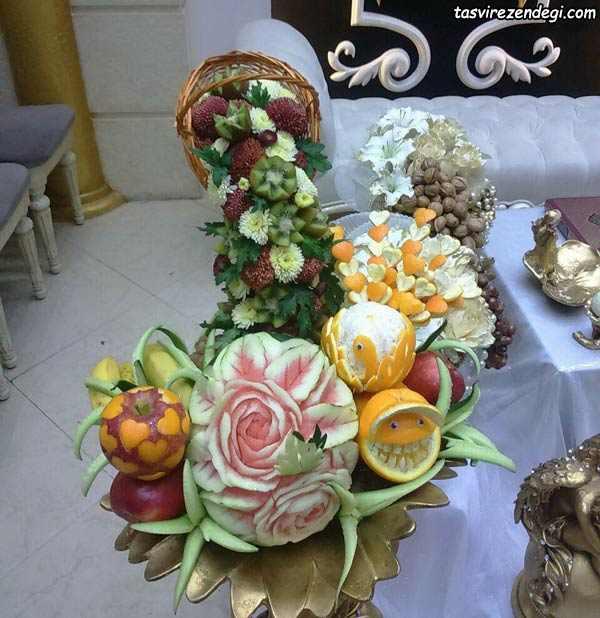 تزیین یلدایی عروس
