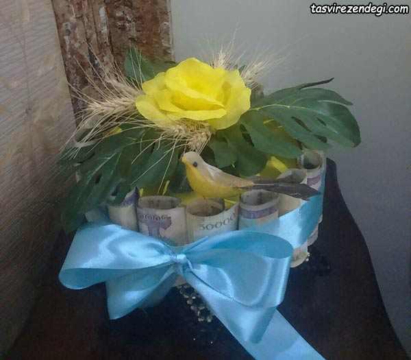 تزیین هدیه نقدی عروس , تزیین پول