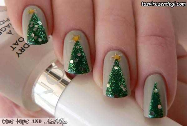 آرایش ناخن کریسمس