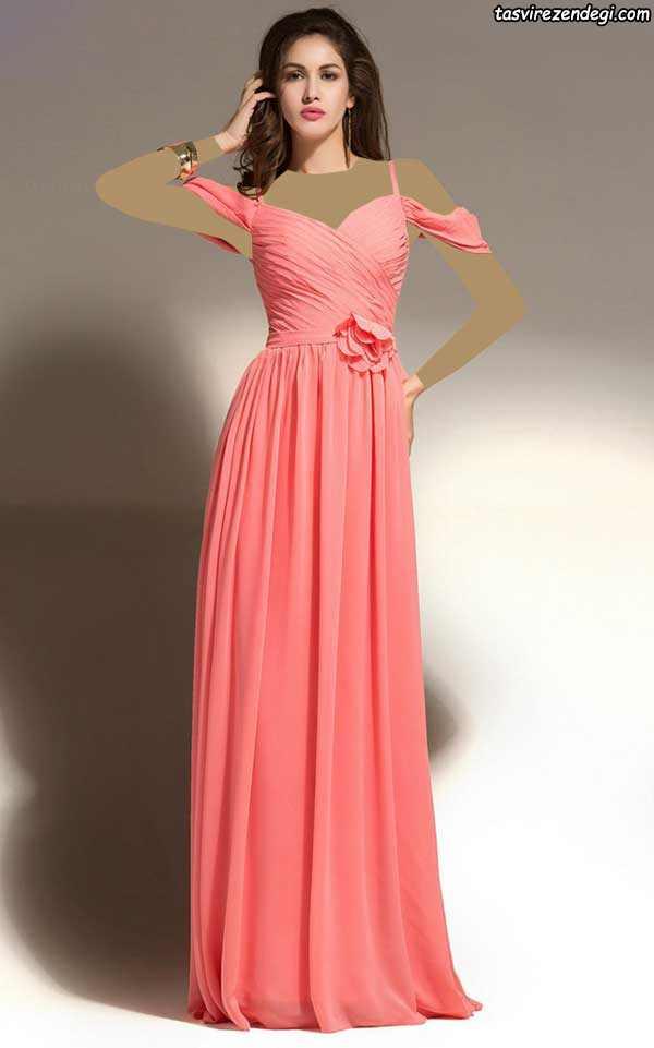 لباس مجلسی مرجانی رنگ
