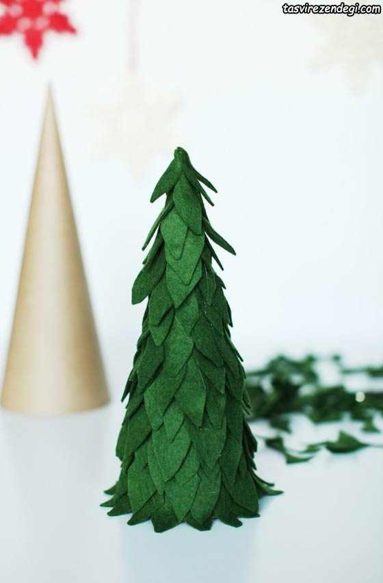 آموزش ساخت درخت کریسمس نمدی