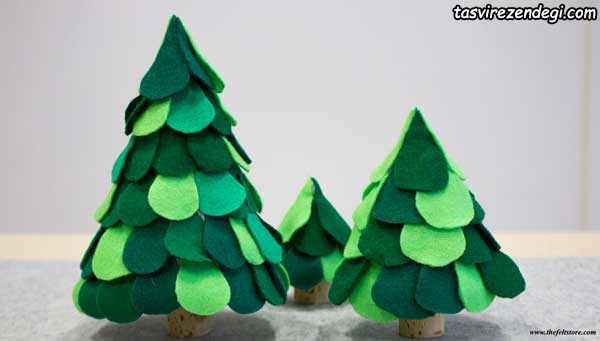 ساخت درخت کریسمس نمدی
