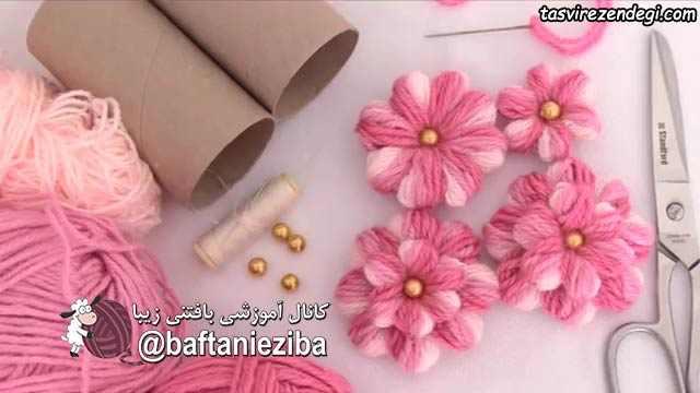 آموزش ساخت گل پفکی
