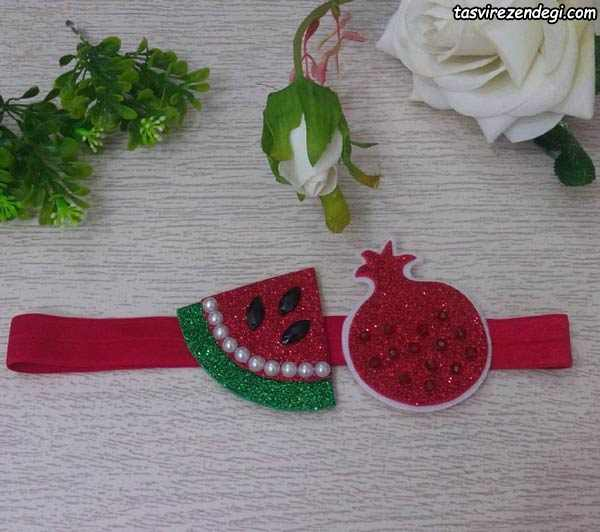 هد بند طرح انار و هندوانه