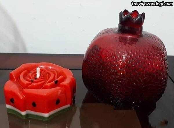 شمع انار و هندوانه