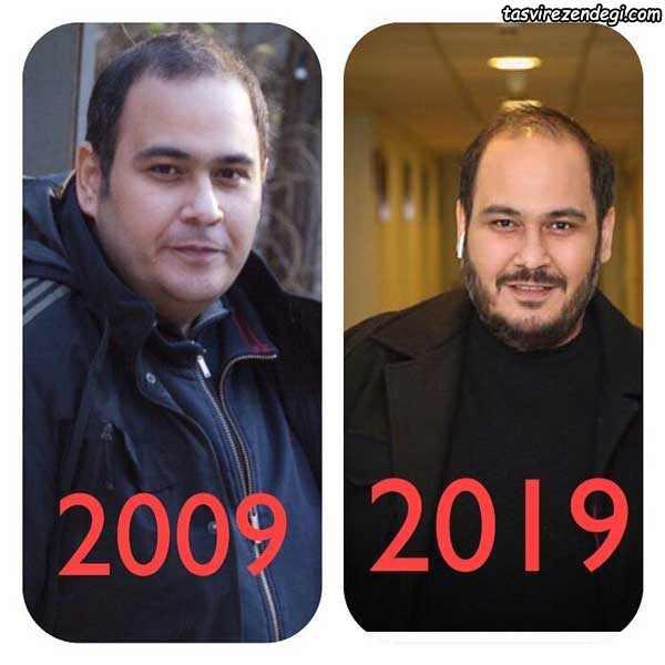 چالش عکس 10 سال قبل رضا داوود نژاد در اینستاگرام - 10yearchallenge