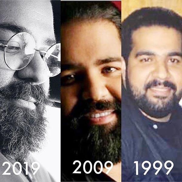 چالش عکس 10 سال رضا صادقی