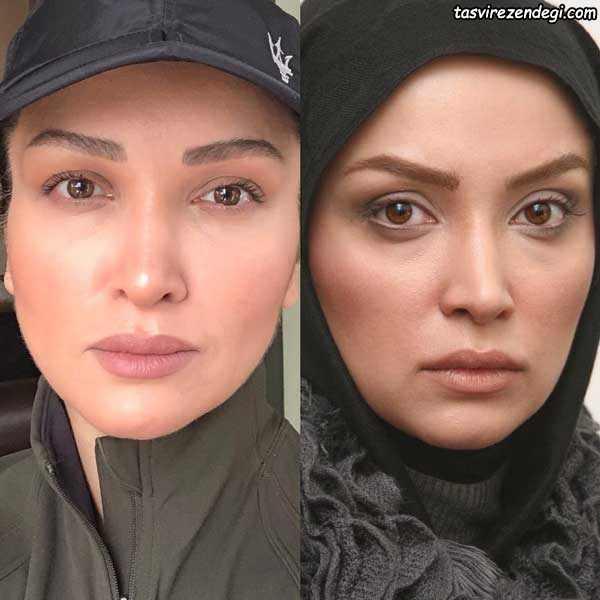 چالش عکس 10 سال روناک یونسی بازیگر زن ایرانی