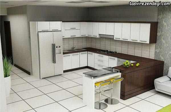طراحی و چیدمان آَشپزخانه مدرن