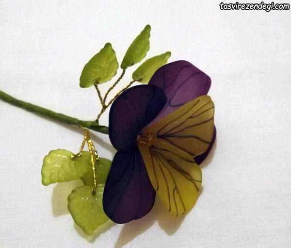 آموزش ساخت گل بنفشه کریستالی