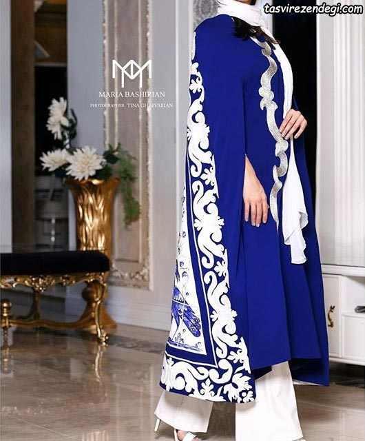 مانتو شنلی بلند با طرح سنتی