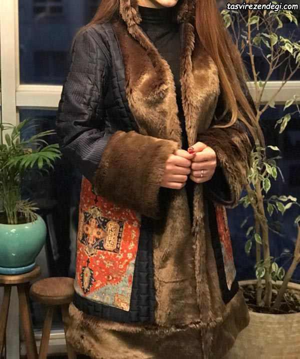 مانتو کوتاه زمستانه سنتی خزدار