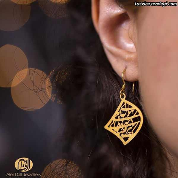 مدل گوشواره جدید نقره روکش طلا
